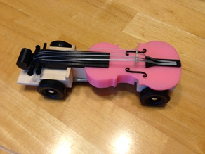 Pinewood Violin Car Remix with Bridge and Strings