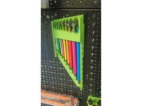 Hanging Allen Key (Hex Key) Holder for pegboard