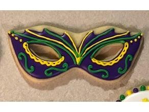 Masquerade mask cookie cutter