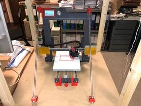 Body rigidity improvement for Hephestos 2 3D printer