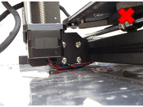 Low Profile Cable Anchor for 8mm T-slot (Prusa)