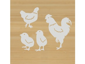 Easter chicken family(Wall Art)
