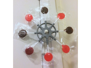 Lollipop Ship Wheel Ornament - Eight Spokes