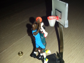Two hands Jam IN YOUR FACE Basketball Player SLAM DUNK
