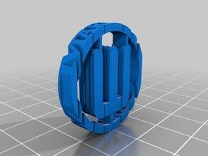 Makerbot logo, text flip