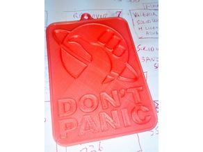 Hitchhiker's Guide to The Galaxy Don't Panic door plate.
