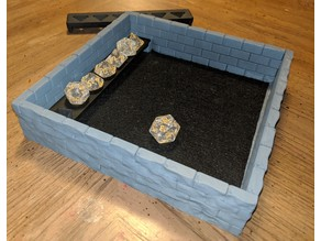 Castle Wall Dice Tray with removable Dice Rack