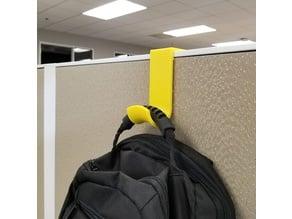 "Heavy Duty 3"" Cubicle Coat/Backpack Hook"