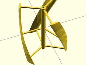 Vertical Axle Wind Turbine(VAWT) with noise decreasing upgrade