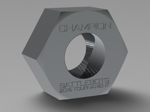 Battlebots Trophy Giant Nut 2016