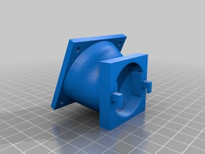Anet A6 extruder fan adapter to 50mm