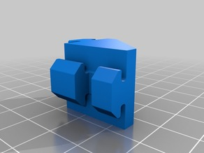 90° Angle bracket rotated for 20x20 aluminium profile, B-type nut 6