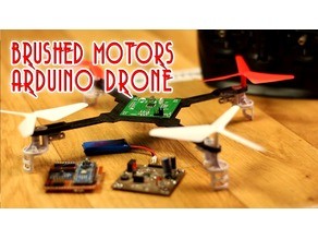 Brushed motors drone body