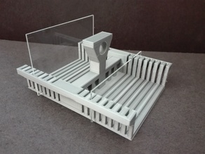 75mm glass slides holder