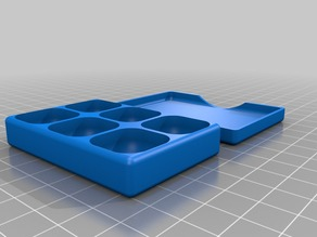 Box with slide over lid and round compartments