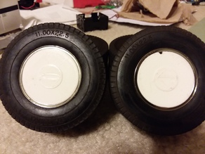 Wheel cover for plastic tamiya semi rear wheels