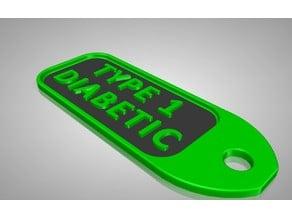Type 1 Diabetic key fob