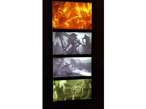 World of Warcraft Lithophane Frame