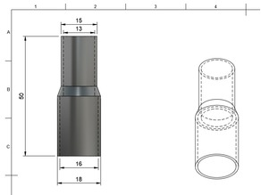 Pipe Reducer 16mm to 13mm