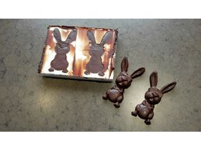 Easter bunny twin chocolate mold