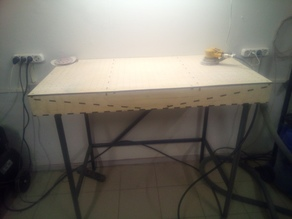 dust collecting vacuum table, lasercut