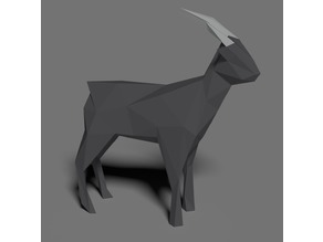 symmetric low poly Goat