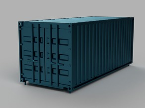 HO scale container 20ft (piko-compatible)