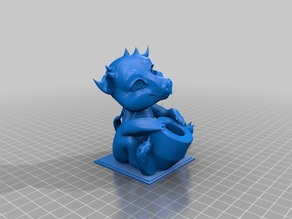 Baby Dragon Pen Holder (no supports)