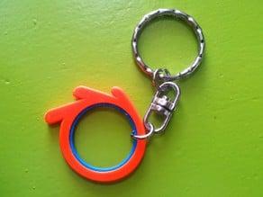 Blender logo keychain