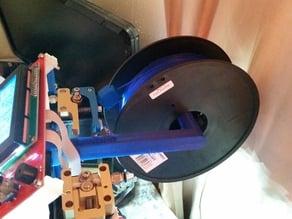 2020 top rail filament spool mount