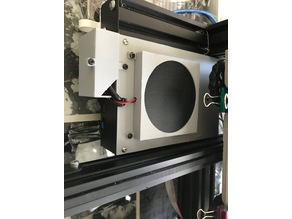 Ender 3 upgraded electronics box cover 80mm cooling fan