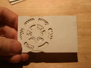 Planetary gear calling card