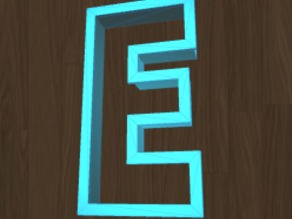 Cookie cutter - the letter E