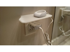 Household Electrical Outlet Shelf
