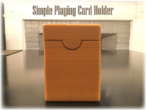 Simple Playing Card Holder