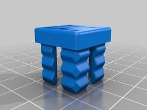20 mm aluminum square tube / box simple plug