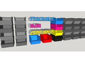Stackable Mini Container + videotutorial sketchup