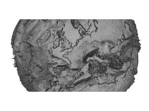 Earth globe from ETOPO1 data set