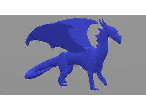 Low Poly Standing Dragon