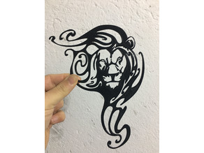 LION in the wind WALL ART /DECORATION