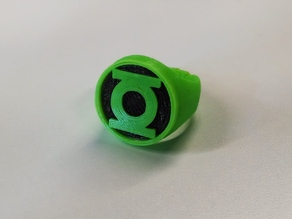 Green Lantern Ring for Dual Extrusion