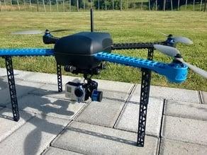 Iris quadcopter long legs (Picatinny rail)