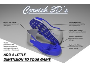 'Cornish 3D's' 3D Printable Footwear
