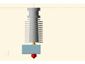 Accurate model of E3d V6 (1.75mm) heatsink and nozzle assembly for fitting