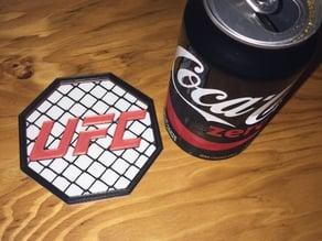 UFC coaster and coaster holder