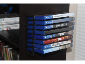DVD/PS4/BluRay Wall Rack (9 count)