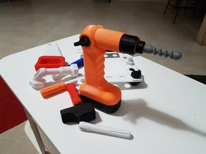 toy tool : Cordless screwdriver / drill