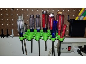 Pegboard Screwdriver Holder