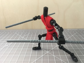 4mm grip Martial Arts Staff for ModiBot