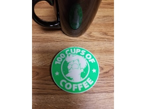Fry 100 cups of coffee coaster